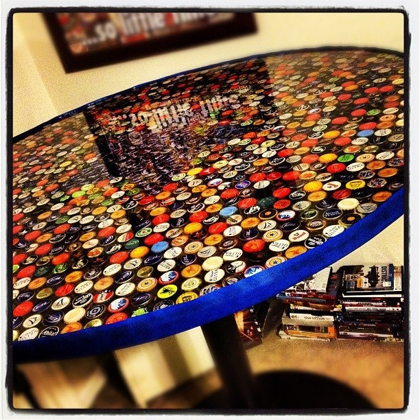 Beer cap bar table