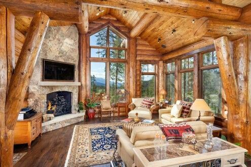 Log Cabin living area