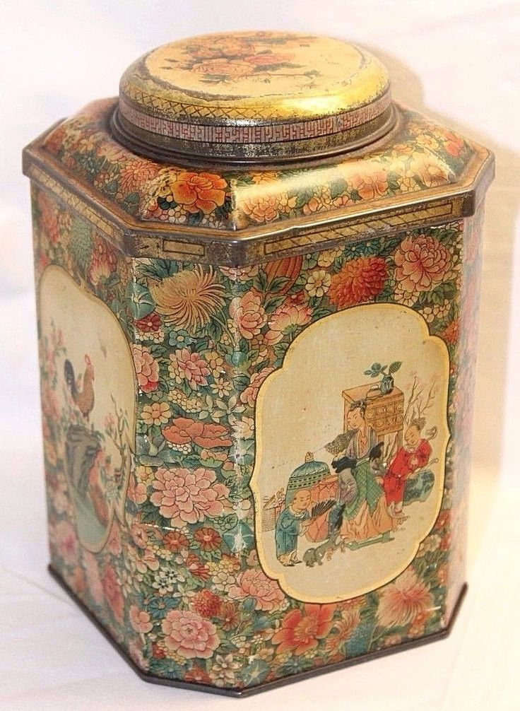 Rare Vintage 1934 Huntley & Palmers British Biscuits Tin - Chinese Decorations | eBay