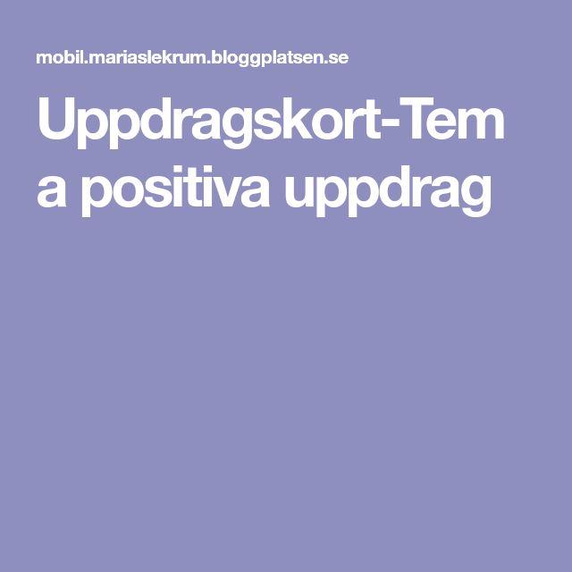 Uppdragskort-Tema positiva uppdrag