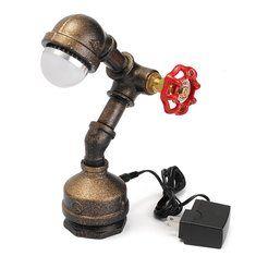 #Banggood Старинные промышленные ретро железной трубы стол стол свет лампы Эдисона лампочки (1096569) #SuperDeals