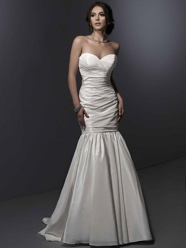 Sweetheart trumpet / mermaid taffeta bridesmaid dress
