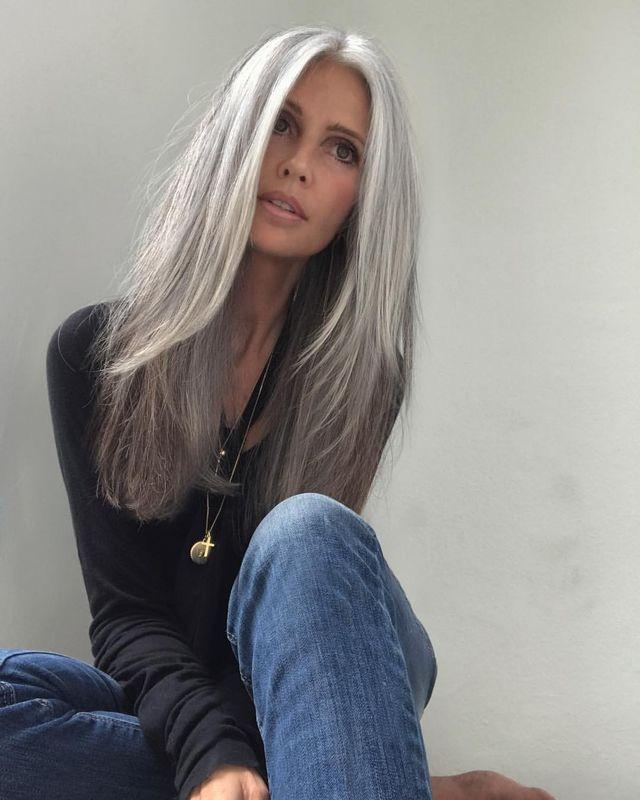 Long Gray Hair, Grey Hair Color, Natural Gray Hair