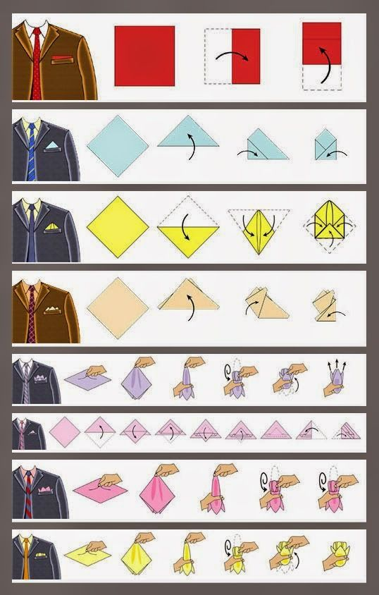 How to fold men handkerchief