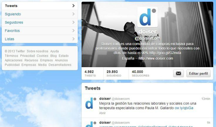 Ya somos 40.000 amigos en Twitter, ¡muchísimas gracias a todos!
