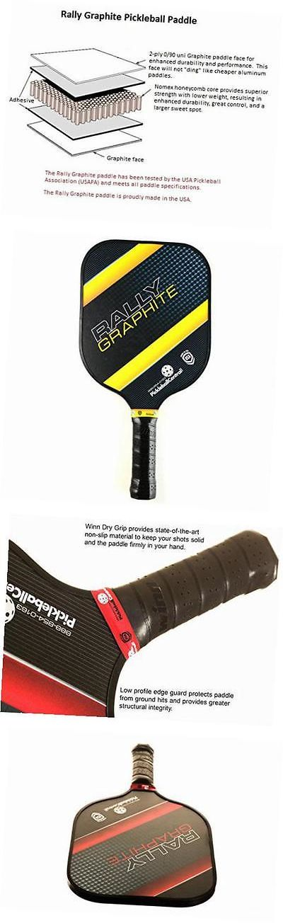 Other Tennis and Racquet Sports 159135: Rally Graphite Pickleball Paddle, Yellow -> BUY IT NOW ONLY: $82.52 on eBay!