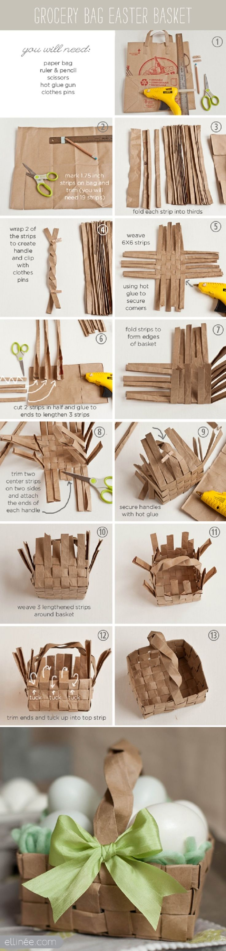 15 Creative DIY Easter Basket Ideas   GleamItUp