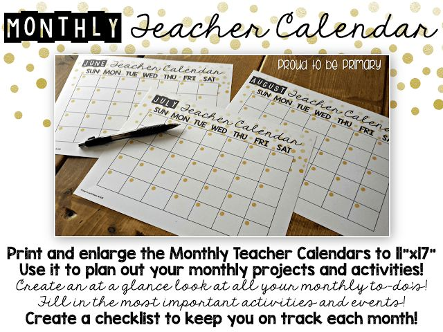 Summer Teacher Calendar & Planner FREEBIE-Are you already thinking about all of the projects you want to do over the summer holiday? Look no further!  I have the perfect thing for you to get yourself and your summer organized!