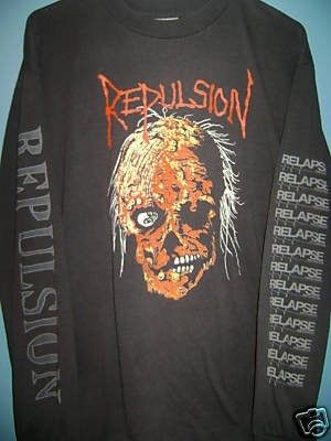 REPULSION-HORRIFIED-LONG SLEEVE-SUPER RARE-ORIGINAL (04/18/2009)