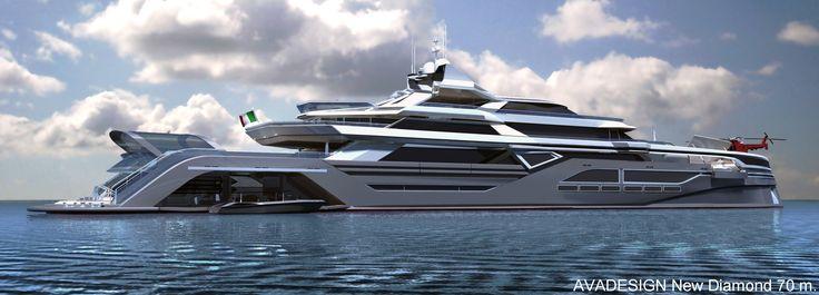yacht pictures | 70m New Diamond Superyacht - Motor Yacht Profile - The 70m New Diamond ...