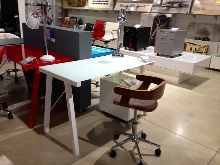 high gloss white desk in am thinking of for my daughters room. A nice size. @home