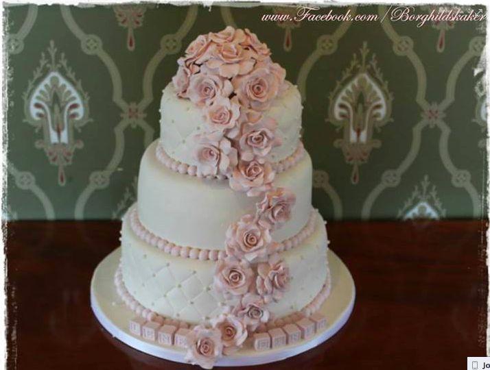 Borghilds kaker. Bryllupskake. Wedding cake