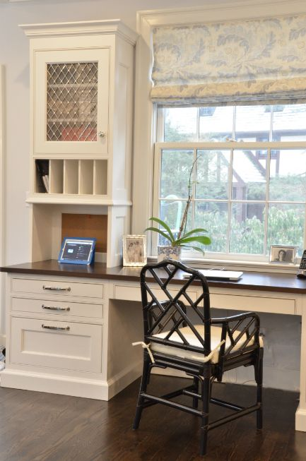 Kitchen Organization - Design Chic - love the idea of an office in the kitchen - great way to stay organized