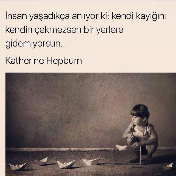 İnsan yaşadıkça anlıyor ki; kendi kayığını kendin çekmezsen bir yerlere gidemiyorsun...   - Katharine Hepburn  (Kaynak: Instagram - iyikelimelerr)  #sözler #anlamlısözler #güzelsözler #manalısözler #özlüsözler #alıntı #alıntılar #alıntıdır #alıntısözler #şiir #edebiyat