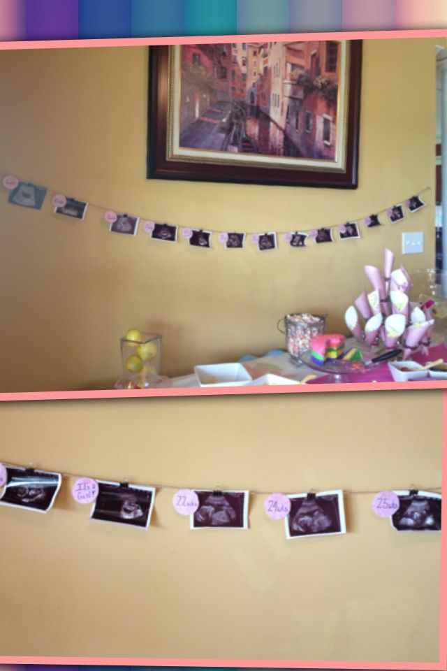Ultrasound garland for baby shower