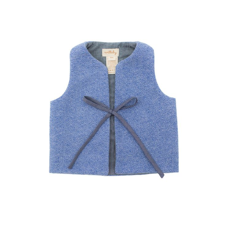 softest flannel vest / true blue – willaby