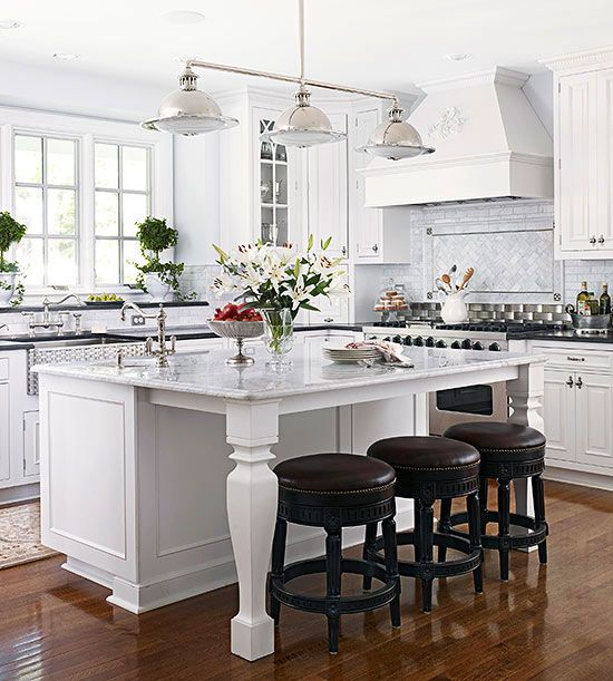 Kitchen Remodel Ideas With Islands kitchen with walnut cabinets light granite counters white arches and butcher block island 25 Best Kitchen Island Makeover Ideas On Pinterest Peninsula Kitchen Diy Painting Cabinets And Country Kitchen