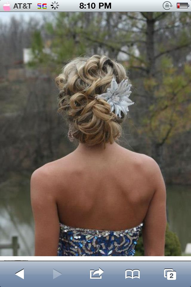 17 Best Images About Senior Ball Hairstyles On Pinterest