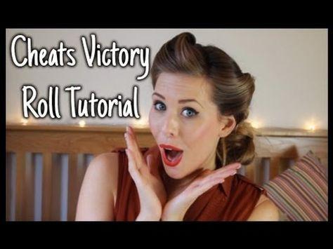 Cheat's Victory Roll Hair Tutorial   xameliax - YouTube