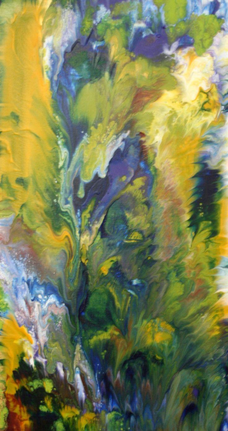Quot Kaleidoscope Garden Quot Acrylic On Canvas 16 1 4 Quot W X 29 3 4