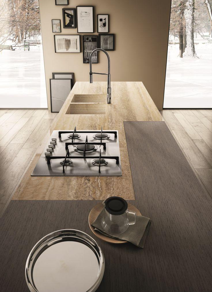 CONTEMPORA Kitchen with peninsula Contempora Collection by Aster Cucine design Lorenzo Granocchia