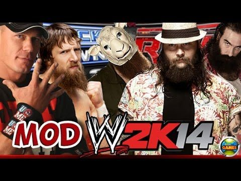 WWE John Cena & Daniel Bryan vs. Wyatt Family [SvR 2011] MOD 2K14 #PS2