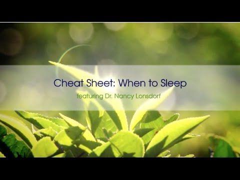 Cheat Sheet: When to Sleep -- vpk by Maharishi Ayurveda - YouTube