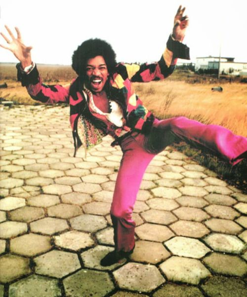 Jimi Hendrix at the 'Love & Peace Festival' 1970
