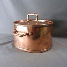 RARE Antique French Copper Saucepan Stockpot with Lid Finely Tinned Hammered http://amzn.to/2pfvyHP