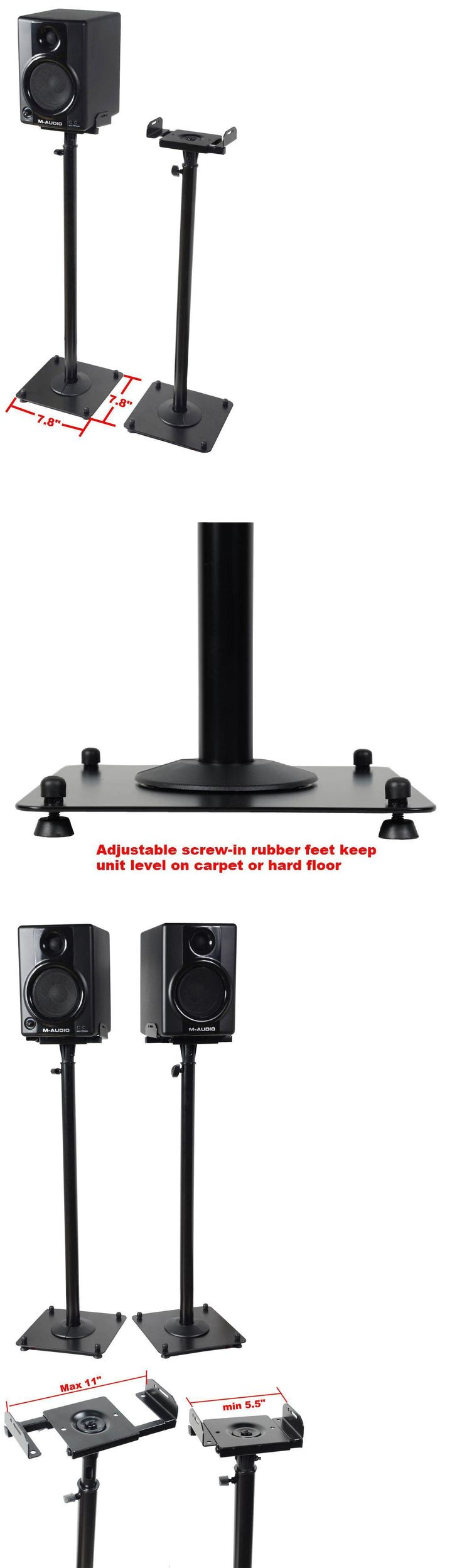 Speaker Mounts and Stands: Speaker Stands Adjustable 2Pc Height Satellite Mount Heavy Duty -> BUY IT NOW ONLY: $45.16 on eBay!