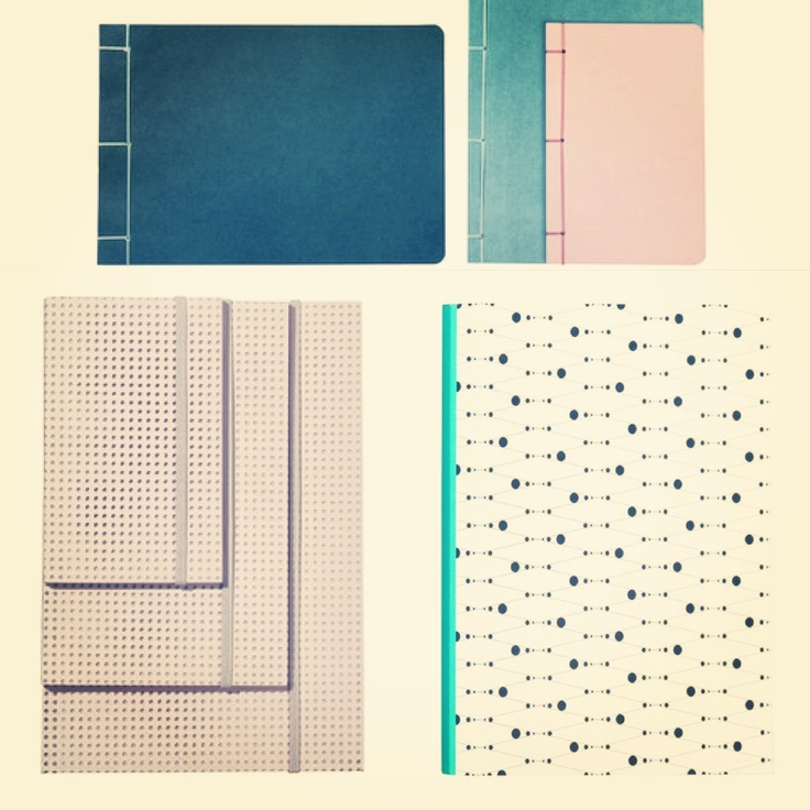 HAY notebooks #ink #mesh #bookbinder