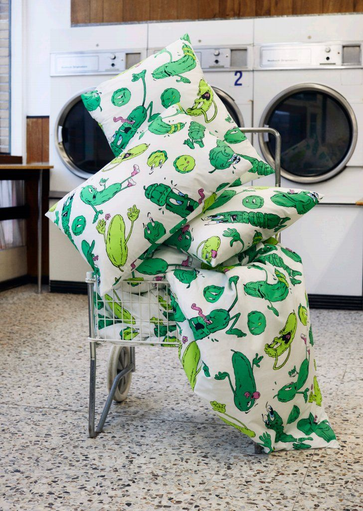 Ikea's New Collection Is Covered With Screaming Cucumbers and Other Trippy Designs