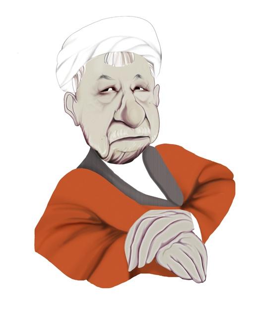 Akbar Hashemi Rafsanjani (former president) -illustration by  m a ziaei