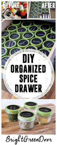 DIY Organized Spice Drawer. Love this idea!!