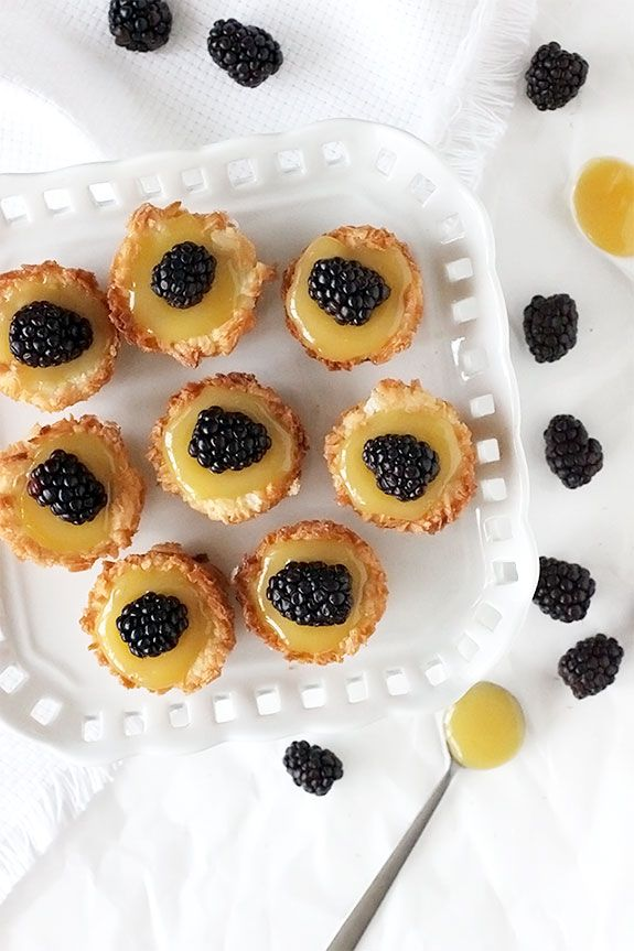 Coconut Macaroon Tartlets - coconut, lemon and blackberry, 3 of my ...