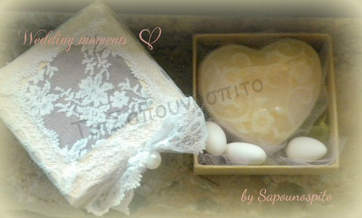 Romantic wedding!     A special glycerin soap!  A nice gift for your guets!