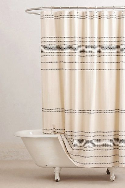 Rippled Stripes Shower Curtain Anthropologie Stripes And Striped Shower Curtains