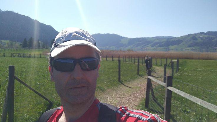 enjoyed a wonderful Sunday around Aegerisee - 16km hike.  #Aegeri #Aegerisee #see #lake #switzerland #schwitz #spring #fruehling #sundayfunday #hiking #wandern #zug