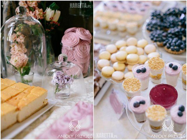 Lilac Wedding,Sweet table decoration,Sweets | Wesele z bzem,Dekoracje słodkiego stołu,Słodkości,Anioły Przyjęć
