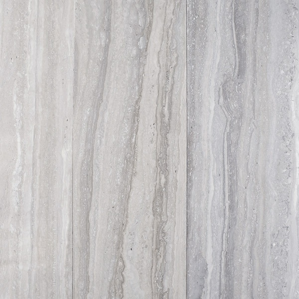 Ocean Blue Travertine, vein cut (too white for my cabinets?)