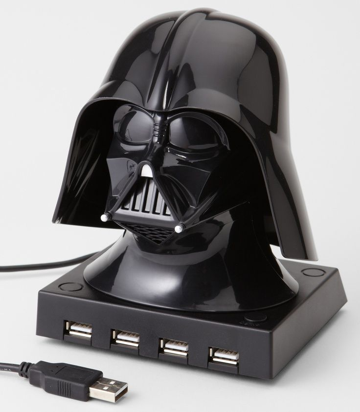 Whenever you plug in a USB device the Darth Vader USB Hub will do some Vader-style heavy breathing. GetdatGadget.com