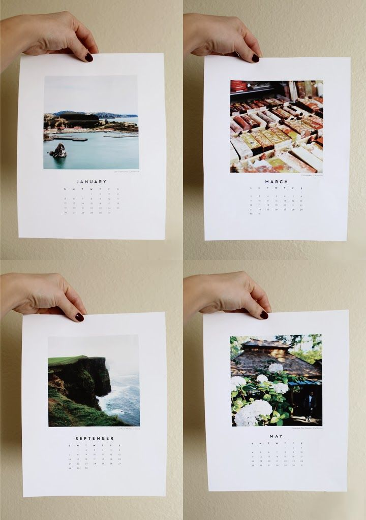 A lovely (and free) printable 2014 calendar from Brianna Burton of Observant Nomad via Poppytalk