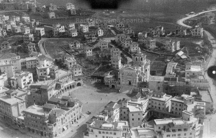 Foto storiche di Roma - Città Giardino Aniene, vista dall'alto. Piazza Sempione