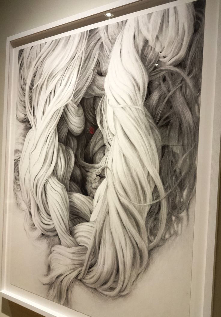 Huguette Despault May large scale charcoal drawings