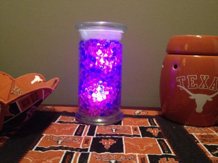 Beads and LED lights make your Diamond Candle jar a great accent light for any room in your home! Share your ideas for reusing Diamond Candle jars at www.facebook.com/diamondcandles.