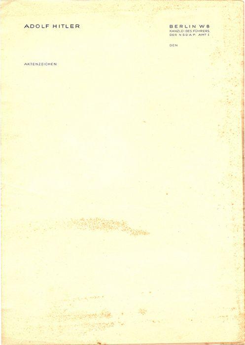 Hitler's letterhead