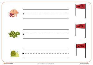 Fichas de Grafomotricidad. Trazos horizontales