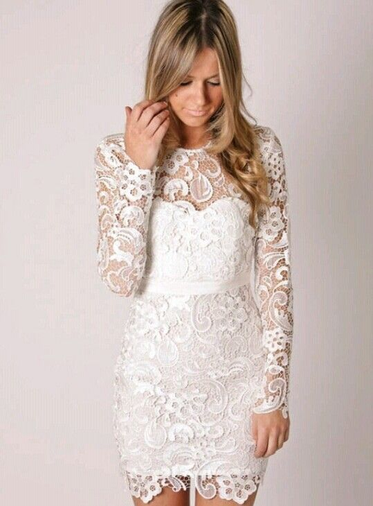 In love with this dress, perfect for a city hall wedding.
