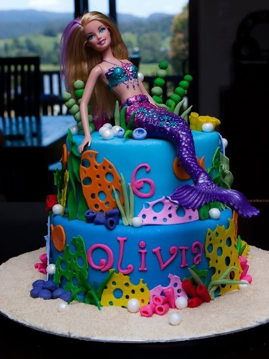 Barbie Mermaid Cake Images : mermaid cake Cake Pinterest