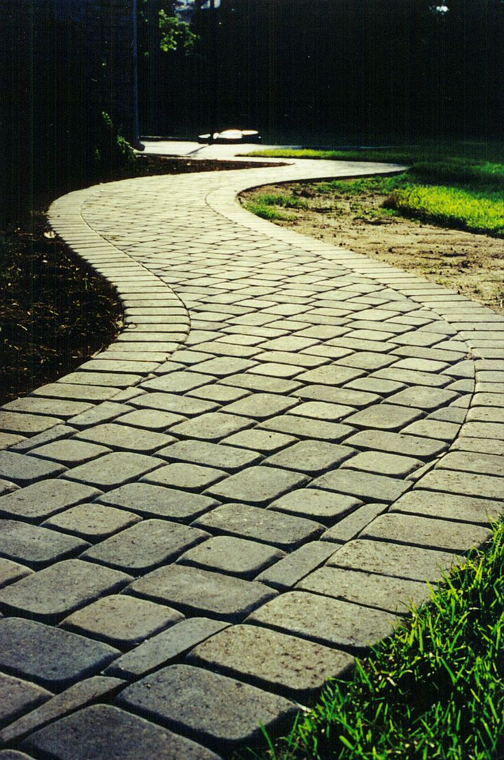 Cobblestone Concrete Paver Walkway WalkwayWalkway IdeasLandscaping IdeasBackyard